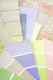 Pastel color design selection Stock Photography