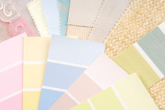 Pastel color design selection Stock Photos