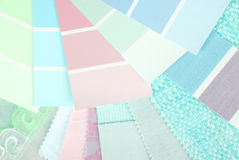 Pastel color design selection Royalty Free Stock Photography