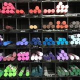 Pastel color. Drawing pastel displayed on the shelf for Royalty Free Stock Image