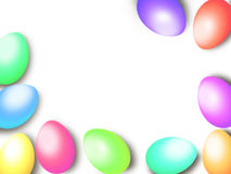 Pastel color Easter eggs border frame background template Royalty Free Stock Images