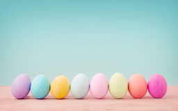 Pastel color of Easter eggs. Stock Image