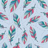 Pastel feathers seamless background 5 Royalty Free Stock Images