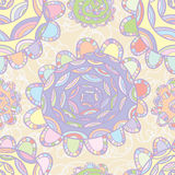 Pastel color flower design draw Royalty Free Stock Image