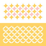 Pastel color geometric pattern with circles and stars Stock Photos