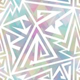 Pastel color geometric seamless pattern Stock Image