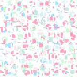 Pastel color gometric abstract pattern background. Fabric design royalty free illustration