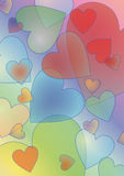Pastel color hearts  background. Pastel color transparent hearts  background Royalty Free Stock Images