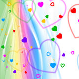Pastel Color Indicates Valentine Day And Background Stock Photography