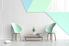 Pastel color living  room. Royalty Free Stock Image