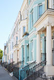 Pastel color luxury houses facades in London Stock Image