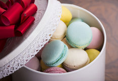 Pastel color macaroons Royalty Free Stock Photos