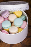 Pastel color macaroons Stock Photo