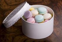 Pastel color macaroons Stock Images