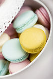 Pastel color macaroons Royalty Free Stock Images