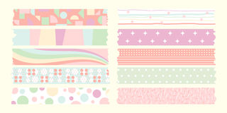 Pastel color masking tape collection Stock Images