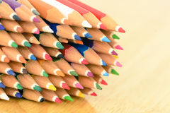 Pastel color pencil isolated Stock Images