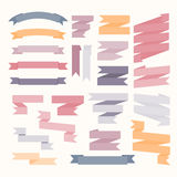 Pastel color ribbons set Stock Photo