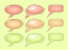 Pastel color speech bubbles Stock Images