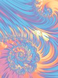 Pastel color spiral abstract fractal pattern Royalty Free Stock Photography