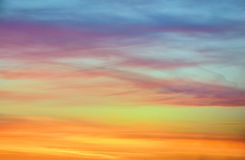 Pastel  color of sunset sky Royalty Free Stock Images