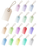 Pastel color tags. Royalty Free Stock Image