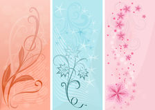 Pastel color vertical banners. Stock Image
