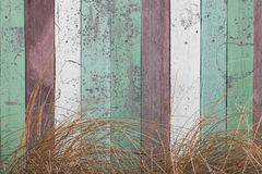 Pastel color wooden wall Stock Photography