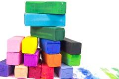 Pastel coloreado aislado en el fondo blanco Imágenes de archivo libres de regalías