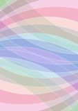 Pastel colored abstract background, soft colors in overlapping arc elements Stock Photography