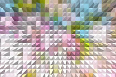 Pastel colored abstract geometric background with pyramid extrud Royalty Free Stock Photography