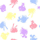 Pastel Colored Blots on White Background Royalty Free Stock Photos