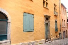 Pastel Colored Buildings in Lyon, France royalty free stock photography