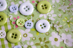 Pastel Colored Buttons Stock Images