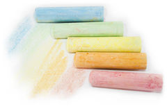 Pastel colored chalk sticks Stock Photos