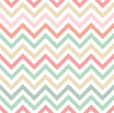 Pastel Colored Chevron Pattern Stock Image