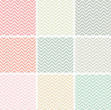 Pastel colored chevron patterns Royalty Free Stock Images