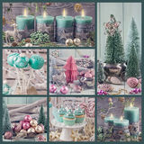 Pastel colored christmas decoration Royalty Free Stock Photos