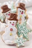 Pastel colored cookies Royalty Free Stock Images