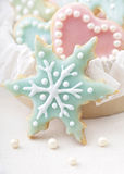 Pastel colored cookies Stock Images