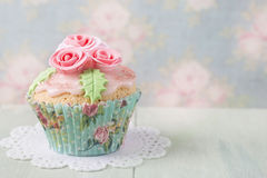 Pastel colored cupcake Royalty Free Stock Image