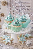 Pastel colored cupcakes Royalty Free Stock Photography