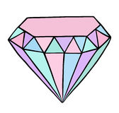 Pastel colored diamond Stock Photos