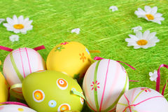 Pastel and colored Easter eggs Royalty Free Stock Image