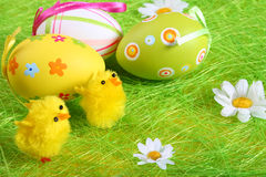 Pastel and colored Easter eggs Royalty Free Stock Photo