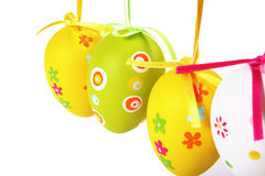 Pastel and colored Easter eggs Royalty Free Stock Photography