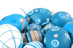 Pastel and colored Easter eggs Royalty Free Stock Images