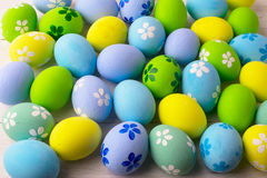 Pastel colored Easter eggs background Royalty Free Stock Image