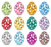 Pastel colored easter eggs with shadow Royalty Free Stock Images