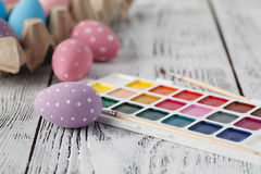 Pastel colored easter eggs Royalty Free Stock Photo